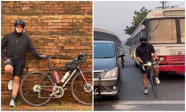 Ajith, Thala Ajith,Ajith latest photos, Ajith cycling, Ajith goes cycling, Ajith cycling pics, Ajith Valimai, അജിത്ത്, Indian express malayalam, IE malayalam