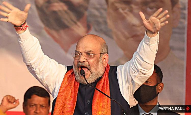 Amit Shah, Amit Shah rally, BJP, Mamata Banerjee, Parivartan Yatra, BJP rally, West Bengal election, BJP rally news, Indian Express news, അമിത് ഷാ, പൗരത്വ നിയമം, സിഎഎ, സിഎഎ നടപ്പാക്കുമെന്ന് അമിത് ഷാ, സിഎഎ അമിത് ഷാ, പൗരത്വ നിയമം, പൗരത്വ നിയമം അമിത് ഷാ, ie malayalam