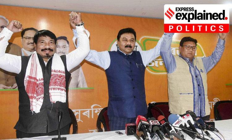 Assam elections, Assam polls, Assam alliances, Assam news, Indian Express, അസം തെരഞ്ഞെടുപ്പ്, അസം, തെരഞ്ഞെടുപ്പ്, Asom Jatiya Parishad, AJP, Raijor Dal, RD, Anchalik Gana Morcha,AGM, Bodoland People's Front, BPF, United People's Party Liberal, UPPL, അസോം ജാതീയ പരിഷത്ത്, എജെപി, റായ്ജോർ ദൾ, ആർഡി, ബോഡോലാന്റ് പീപ്പിൾസ് ഫ്രണ്ട്, ബിപിഎഫ്, യുണൈറ്റഡ് പീപ്പിൾസ് പാർട്ടി ലിബറൽ, യുപിപിഎൽ, അഞ്ചാലിക് ഗണ മോർച്ച, എജിഎം, ie malayalam