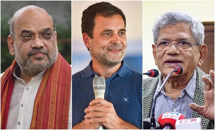 Amit Shah, അമിത് ഷാ, Sitaram Yechury, സിതാറാം യെയ്യൂരി, Rahul Gandhi, രാഹുൽ ഗാന്ധി, Kerala Assembly Election 2021, കേരള നിയമസഭ തിരഞ്ഞെടുപ്പ്, iemalayalam, ഐഇ മലയാളം