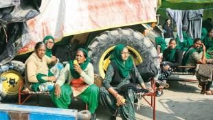 farmers protest, women at farmers protest, farmers laws, delhi border farmers protest, indian express