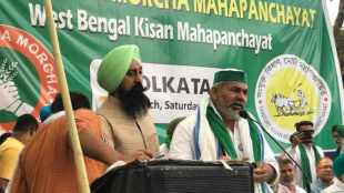 Rakesh Tikait, Rakesh Tikait news, farmers protest, Nandigram, West Bengal Assembly Elections 2021, Indian Express news, BJP, പശ്ചിമ ബംഗാൾ, ബംഗാൾ, തിരഞ്ഞെടുപ്പ്, രാകേഷ് ടികായത്, ie malayalam