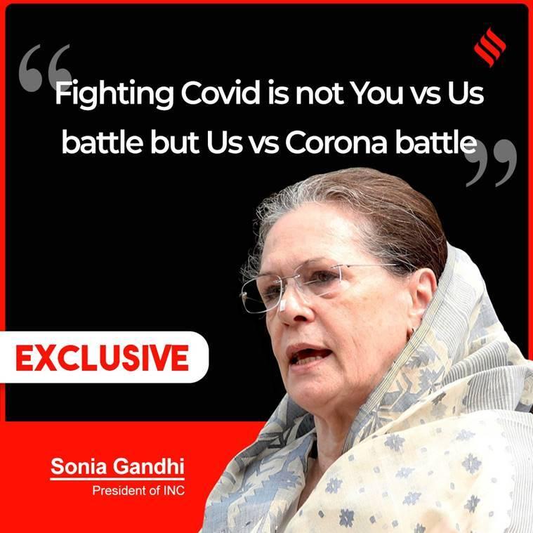 covid-19, india covid cases, sonia gandhi on covid-19, sonia gandhi covid meeting, congress, covid vaccine, pm modi, oxygen shortage, indian express news