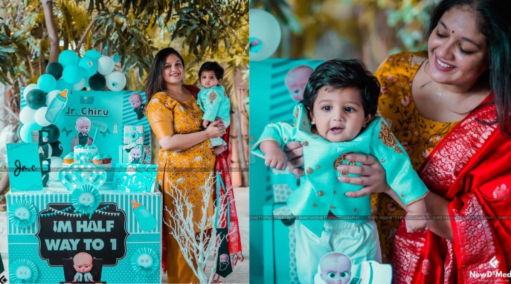 meghna-raj-instagram-post-with-junior-chiru-photos-487039