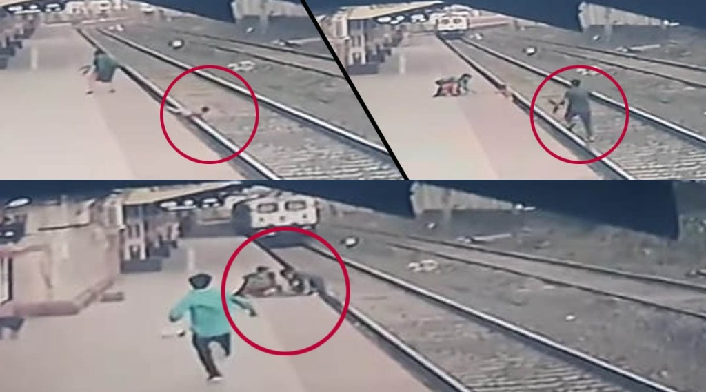 facebook viral video,ഫേസ്ബുക്ക് വൈറൽ വീഡിയോ, railwayman saves child, റയിൽവേമാൻ, railway minister,റെയിൽവേ മന്ത്രി, piyush goyal,പിയുഷ് ഗോയൽ, viral post,വൈറൽ പോസ്റ്റ്, railwayman saves child, railway track accidents, train accident, ട്രെയിൻ അപകടം, ie malayalam