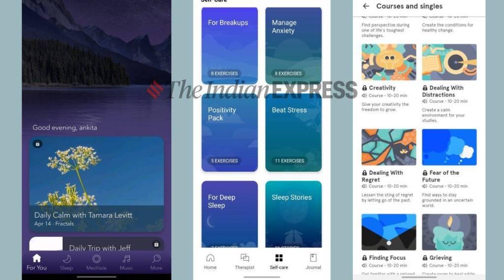 covid 19,കോവിഡ് 19, coronavirus,കൊറോണ വൈറസ്, covid 19 news, reducing stress apps,മാനസിക സമ്മർദ്ദം, mindfulness, mindfulness apps, reducing stress app in india, meditation app, meditation app in india, best apps for reducing stress, Best apps for meditation,മെഡിറ്റേഷൻ ആപ്പുകൾ, Best apps for mindfulness, anxiety and atress app, headspace app, calm app, shine app, wysa, mindfulness therapy, clam app, shine app, Best apps for reducing stress, Best apps for meditation, Best apps for mindfulness, Anxiety & Stress app, Headspace app, calm app, Shine app, Wysa, mindfulness therapy, ie malayalam