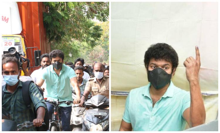 tamil super star vijay, vijay vote, ilayathalapathy vijay, petrol proice hike protest, vijay news, vijay vs bjp, vijay voting, ie malayalam