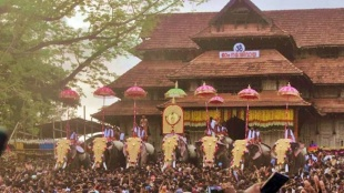 Thrissur Pooram, തൃശ്ശൂര് പൂരം, Thrissur Pooram news, തൃശ്ശൂര് പൂരം വാര്ത്തകള്, Thrissur Pooram updates, Covid Restrictions, കോവിഡ് നിയന്ത്രണങ്ങള്, Covid 19, കോവിഡ് 19, Covid 19 news, കോവിഡ് വാര്ത്തകള്, Covid 19 Kerala, Covid 19 Latest Updates, Kerala News, കേരള വാര്ത്തകള്, Indian Express Malayalam, IE Malayalam, ഐഇ മലയാളം