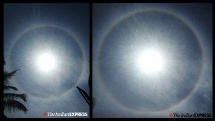 22 degree circular halo, bengaluru, halo, sun halo, കൗതുക വാർത്തകൾ, കൗതുക വാർത്ത, malayalam news, news in malayalam, latest news malayalam, latest news in malayalam, മലയാളം വാർത്ത, വാർത്ത, ie malayalam