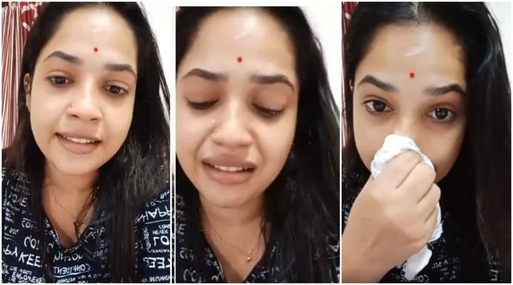 Kudumbavilakku, കുടുംബ വിളക്ക്, ശീതൾ, amrutha nair , amrutha nair live viral, amrutha nair crying live, അമൃത നായർ, serial, സീരിയൽ, ie malayalam