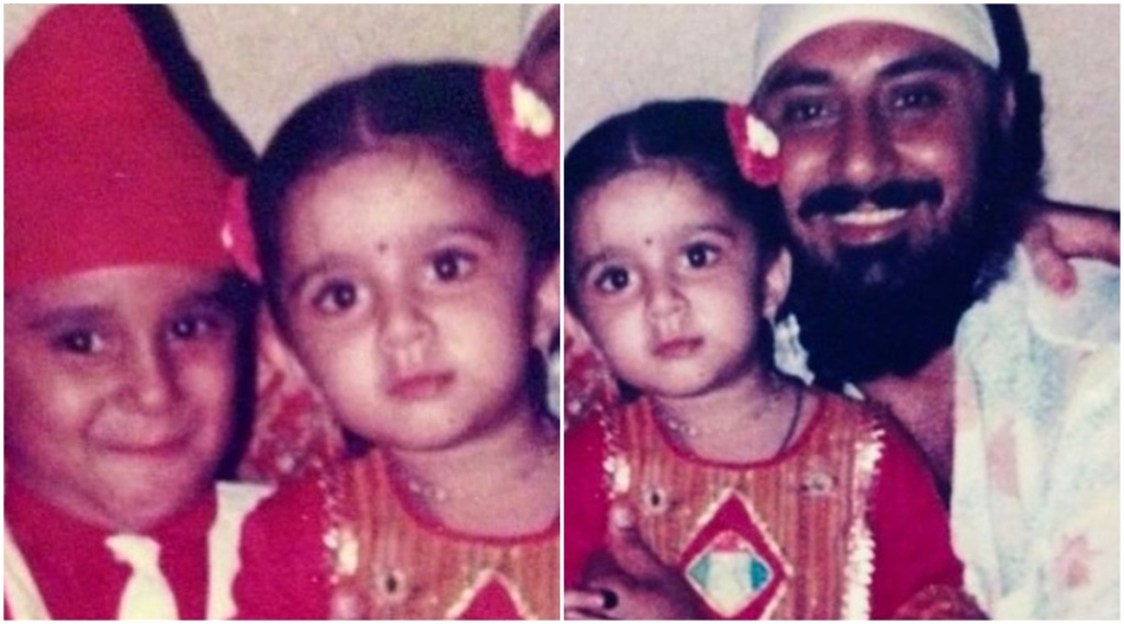 Charmy Kaur, Charmy Kaur childhood photo, Charmy Kaur father