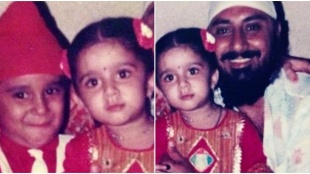 Charmy Kaur, Charmy Kaur childhood photo, Charmy Kaur father