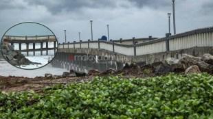 cyclone tauktae,kerala,valiyathura pier,thiruvananthapuram
