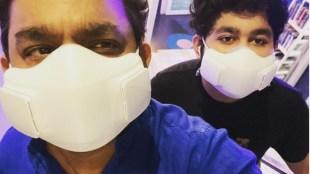 A R Rahman, A R Rahman son, A R Rahman mask rate