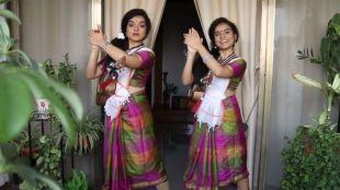 Antara Nandhy, Viral Video, Antara Nandhy song, Assamese girl sing malayalam song, malayalam folk song, നാടൻപാട്ടുകൾ, antara and ankita, balconyconcert, Nandhy sisters, ie malayalam
