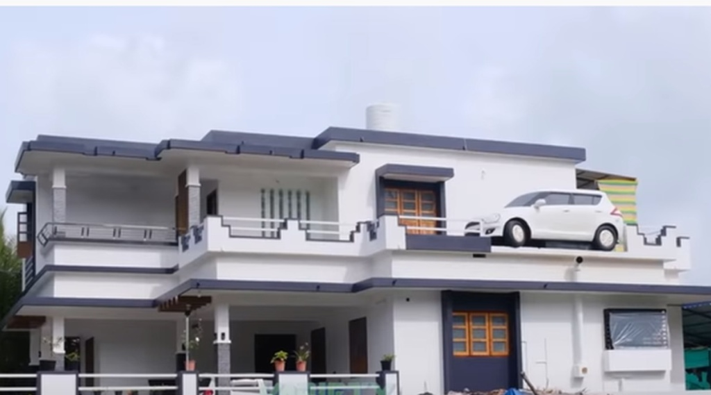 How Maruti Swift Car reached roof of the house, viral vide, വൈറൽ വീഡിയോ