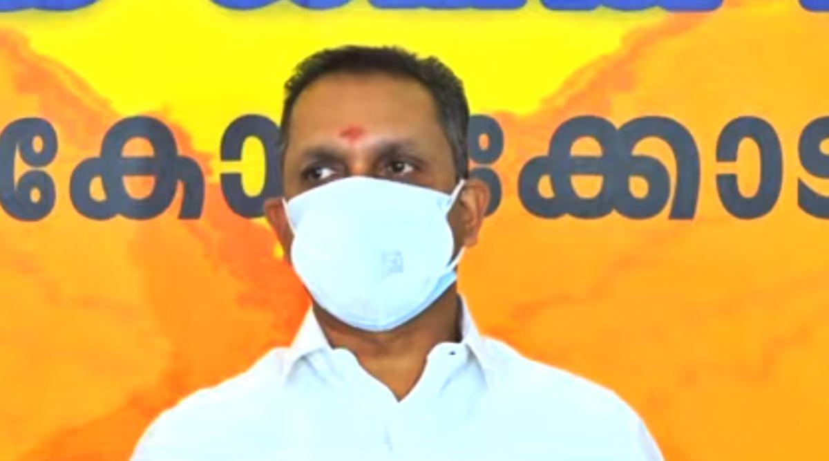 BJP president K Surendran press meet Kozhikode against govt on Kitex issue and covid deaths