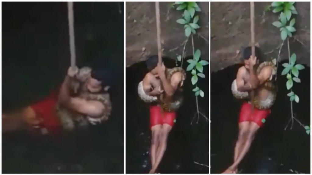 snake rescue, viral video, snake rescue viral video, kerala snake rescue viral video, Thrissur snake rescue viral video, ie malayalam