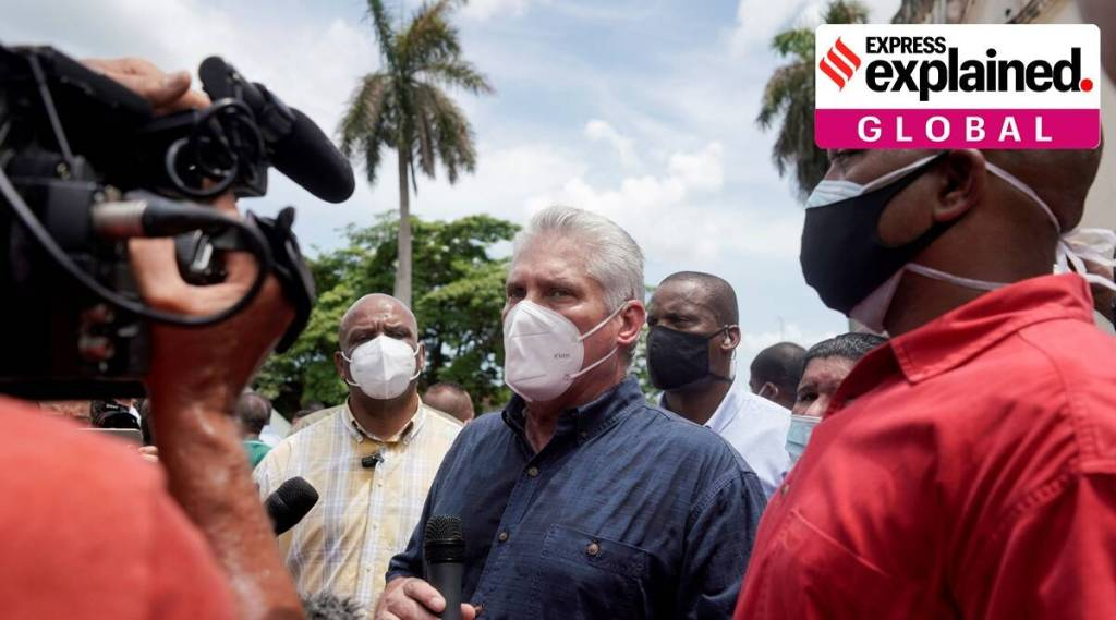 Cuba, Cuba protests, Protests in Cuba, Cuba Covid news, Cuba Covid vaccine, Cuban government, Indian Express malayalam