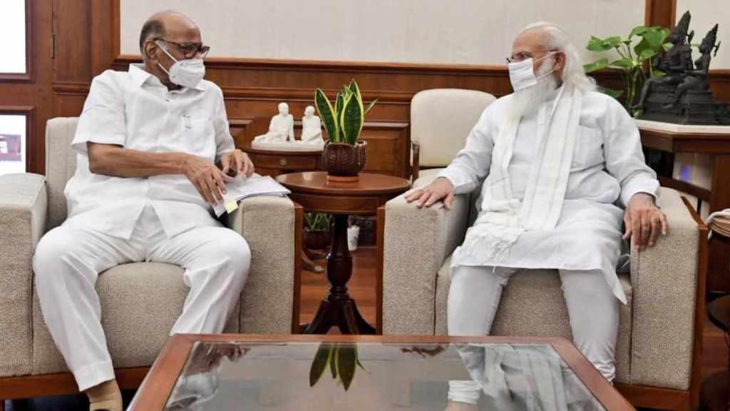 modi pawar meet, PM Modi Sharad Pawar meet, modi pawar meet in delhi, PM Modi, NCP chief Sharad Pawar, Sharad Pawar president, Prashant Kishor, Indian Express, മോദി, നരേന്ദ്ര മോദി, പ്രധാനമന്ത്രി, പവാർ, ശരദ് പവാർ, എൻസിപി, മോദി-പവാർ, കൂടിക്കാഴ്ച, എൻസിപി, രാഷ്ട്രപതി തിരഞ്ഞെടുപ്പ്, ie malayalam