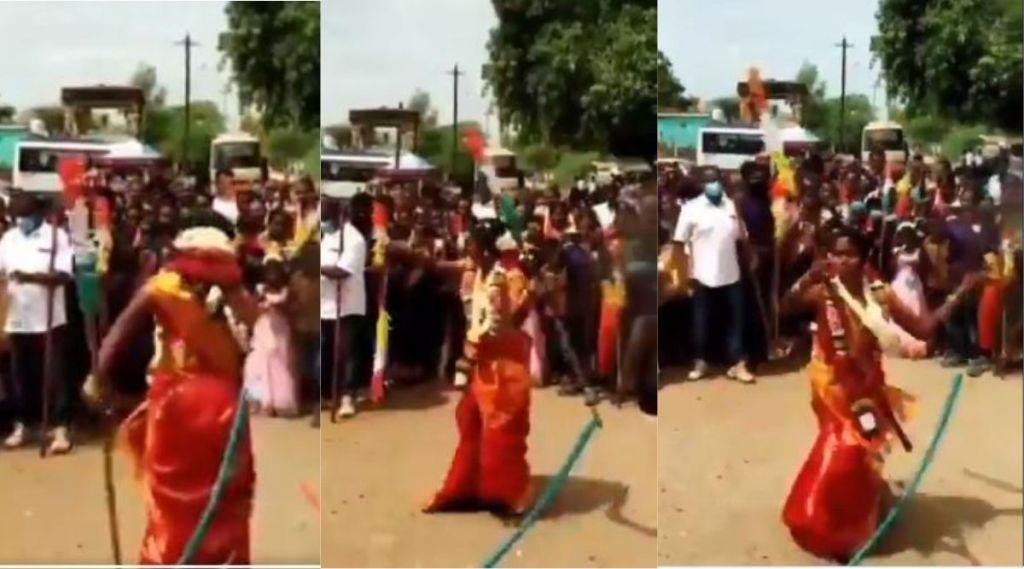 Newlywed bride perform martial arts, Tamil Nadu, Silambattam, Tamil Nadu Bride performs martial arts viral video, Bride martial arts performance, self-defense awareness, Thoothukudi, viral video, ie malayalam