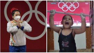 Mirabai Chanu, Mirabai Chanu returns, watch Mirabai Chanu returns to india, Mirabai Chanu olympics, Mirabai olympic medal, Mirabai india return, sports news, indian express news, മീരബായ്, മീരബായ് ചാനു, മീരാ ഭായ്, മീരാഭായ്. മീരാഭായ് ചാനു, മീരാ ഭായ് ചാനു, ഒളിംപിക്സ്, olympics malayalam, sports malayalam, malayalam news, malayalam sports news, ie malaylam,