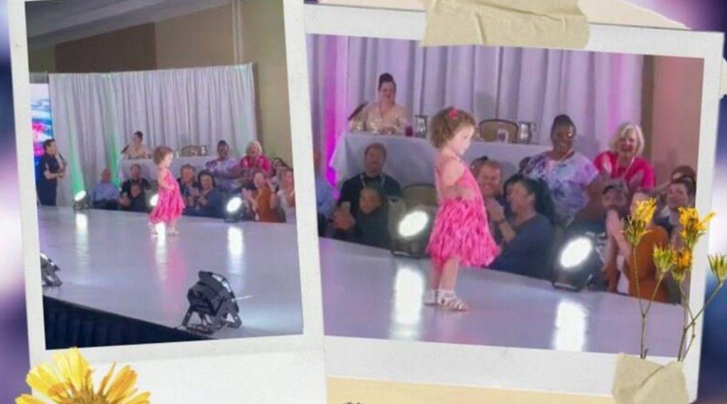 toddler ramp walk, toddler impressive catwalk, florida girl stunning catwalk, viral video, cute children videos, ie malayalam