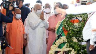 Kalyan Singh, Narendra Modi, former uttar pradesh cm, former up cm, kalyan singh dead, kalyan singh last rites,kalyan singh funeral, ie malayalam