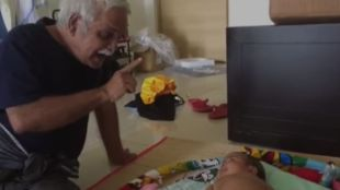 Viral video, Facebook, Grandpa and Baby, Lullaby, Baby cute video, Baby funny video, ie malayalam