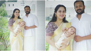 miya, miya son, miya with family onam photos