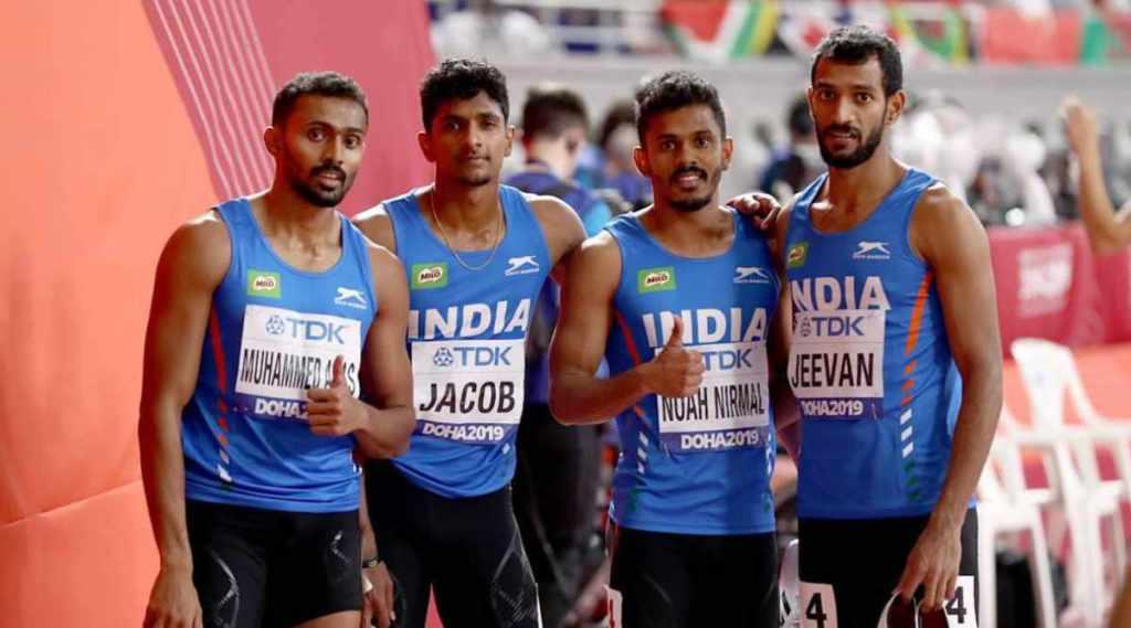 india 4x400 relay men, india 4x400 relay tokyo olympics, Muhammed Anas Yahiya, Tom Noah Nirmal, Rajiv Arokia, Amoj Jacob, india relay team asia record, മുഹമ്മദ് അനസ് യഹിയ, നോഹ നിര്മല് ടോം, ആരോക്യ രാജീവ്, അമോജ് ജേക്കബ്, റിലേ, 4x400, ഒളിംപിക്സ്, ie malayalamm