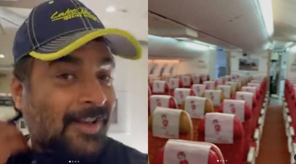 madhavan, r madhavan, madhavan instagram, madhavan instagram video, madhavan flight video, madhavan travels alone in flight, flying alone in flight, madhavan news, bollywood news,ie malayalam