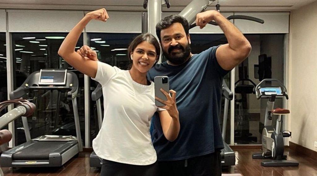 Mohanlal, Kalyani Priyadarshan, മോഹൻലാൽ, കല്യാണി priyadarshan, kalyani priyadarshan photos, mohanlal gym workout, ie malayalam