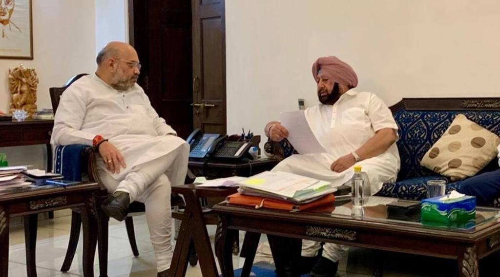 Amit Shah, Amarinder sIngh, Punjab, Congress, Punjab Political Crisis, IE Malayalam