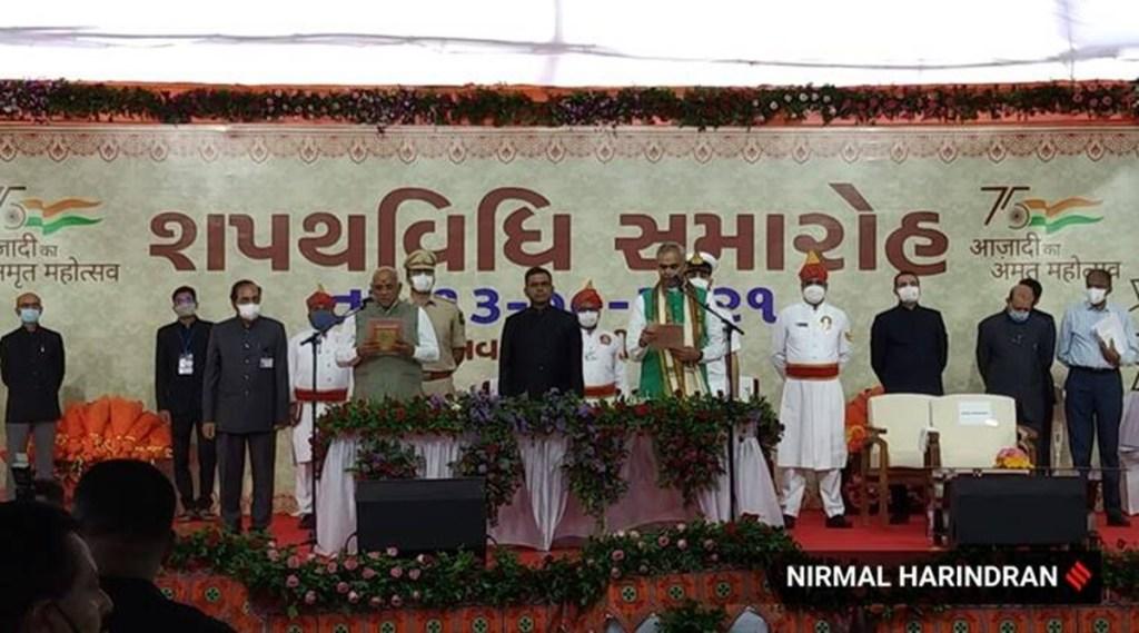 Bhupendra Patel, Bhupendra Patel swearing in ceremony, Bhupendra Patel Gujarat CM, Gujarat chief minister, Vijay Rupani, Gujrat BJP, Narendra Modi, Amit Shah, Indian Express Malayalam, ie malayalam