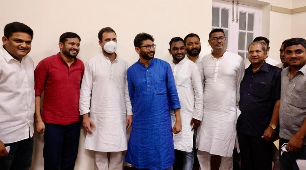 Kanhaiya Kumar, Kanhaiya Kumar congress, Kanhaiya Kumar joining congress, Kanhaiya Kumar congress poster, Jignesh Mevani, CPI, Rahul Gnandhi, indian express malayalam, ie malayalam