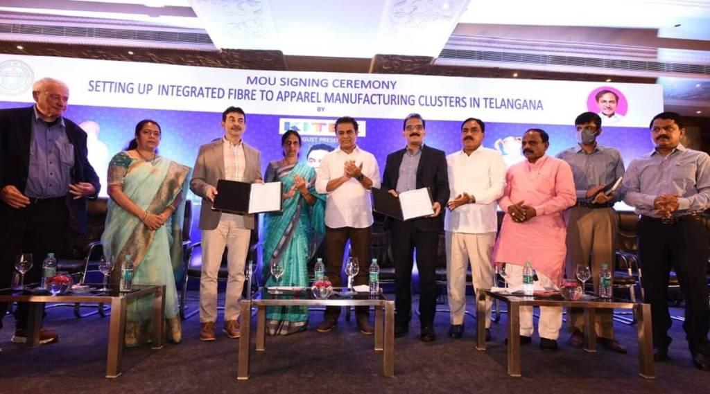 Kitex group, Kitex group Telangana MOU, Hyderabad news, Indian Express, Sabu M Jacob, KT Rama Rao, Kitex manufacturing clusters, കിറ്റക്സ്, തെലങ്കാന, malayalam news, ie malayalam