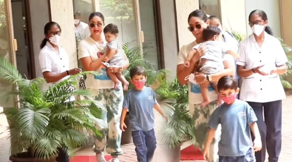 kareena kapoor, kareena with kids, taimur