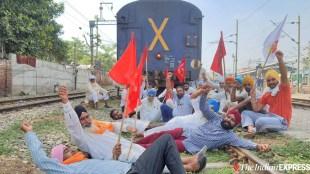 Farmers rail roko protest, Rail Roko, Farmers rail roko, Farmers protest, Lakhimpur Kheri, Lakhimpur Kheri,UP Violence,farmers protest,UP Violence Updates,Lakhimpur-Kheri Violence Updates,Lakhimpur-Kheri Violence Live Updates,UP Violence Latest News,Lakhimpur-Kheri Violence Latest Updates,UP News,Uttar Pradesh news,Uttar Pradesh violence,Lakhimpur-Kheri Violence Latest News, Lakhimpur Kheri, Lakhimpur Kheri violence, Ajay Mishra Teni, Ashish Mishra Teni, rail roko,rail roko agitation,farmers protest,lakhimpur kheri violence, Samkyukta Kisan Morcha,UP Farmers' Killing,Ajay Mishra, farmer protest news, farmer protest live news, kisan andoilan live news, kisan andolan news, latest news, news in malayalam, indian express malayalam, ie malayalam