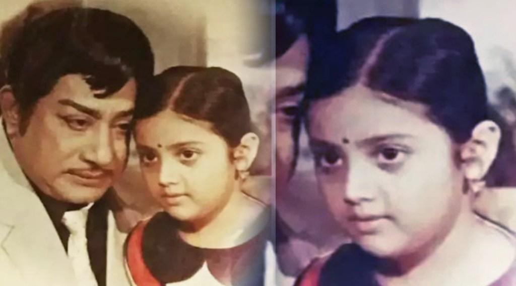 Meena, Sivaji Ganesan, Meena daughter, Meena daughter Nainika, Meena childhood photo